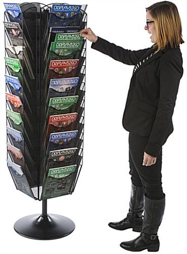 Rotating Mesh Literature Stand, Full Height