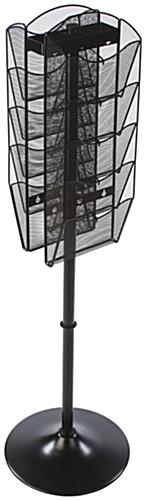 Rotating Mesh Magazine Display, Steel