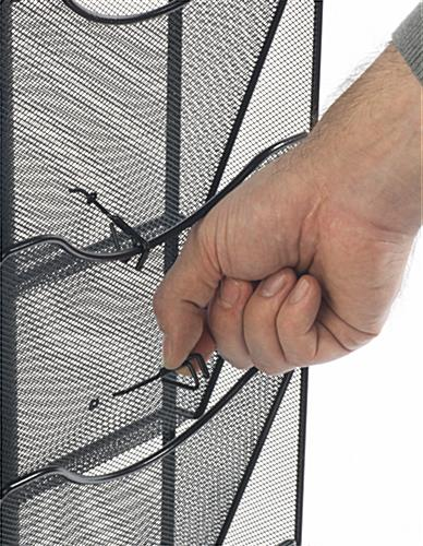 Rotating Mesh Magazine Display w/ Pocket Dividers