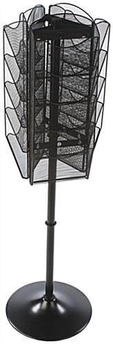 Powder Coated Spinning Mesh Magazine Rack