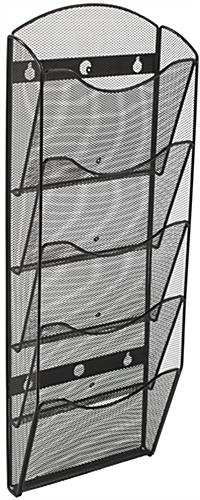 Steel Hanging Mesh Magazine Rack