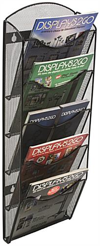 Hanging Mesh Magazine Rack w/ Dividers