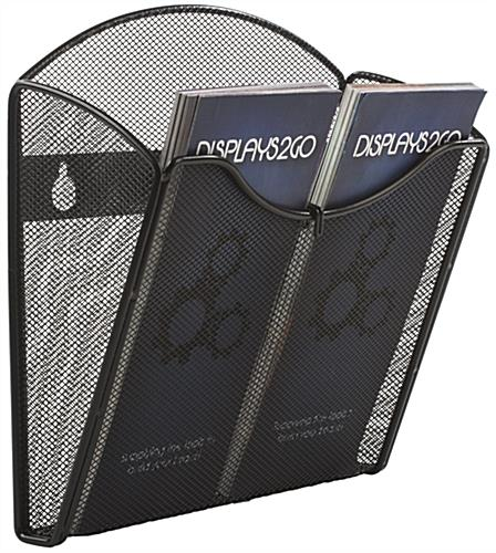 "Mesh Brochure Holder for Wall, Holds 4"" x 9"" Literature"