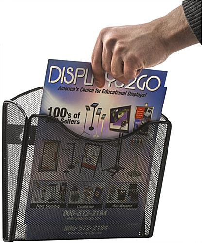 Mesh Brochure Holder for Wall in Offices