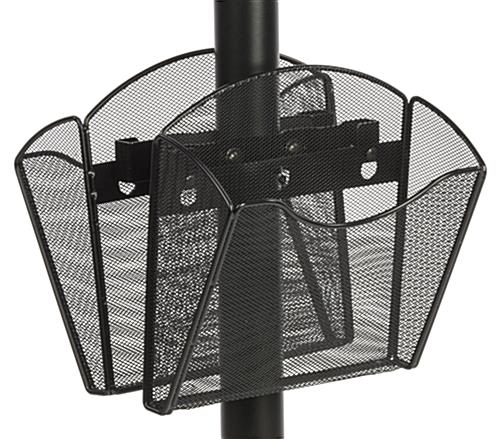 Double-Sided Mesh Literature Pocket with Bracket - Two Sided