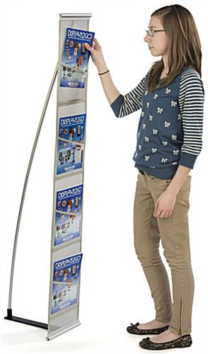Pop Up Magazine Stand with Slim Profile