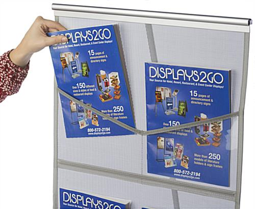 Pop Up Magazine Display has Clear Plastic Compartments