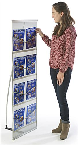 Pop Up Magazine Display Holds Magazines & Brochures