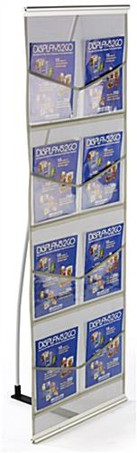 Pop Up Magazine Display with 8 Clear Pockets
