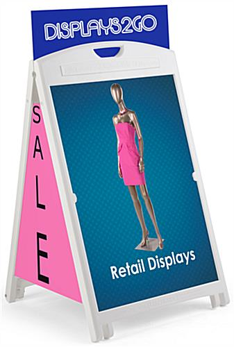 24 x 36 Sandwich Board with Header & Side Panels