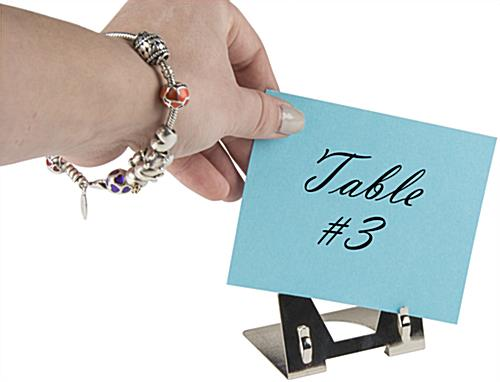 Minimal Metal Place Card Clip