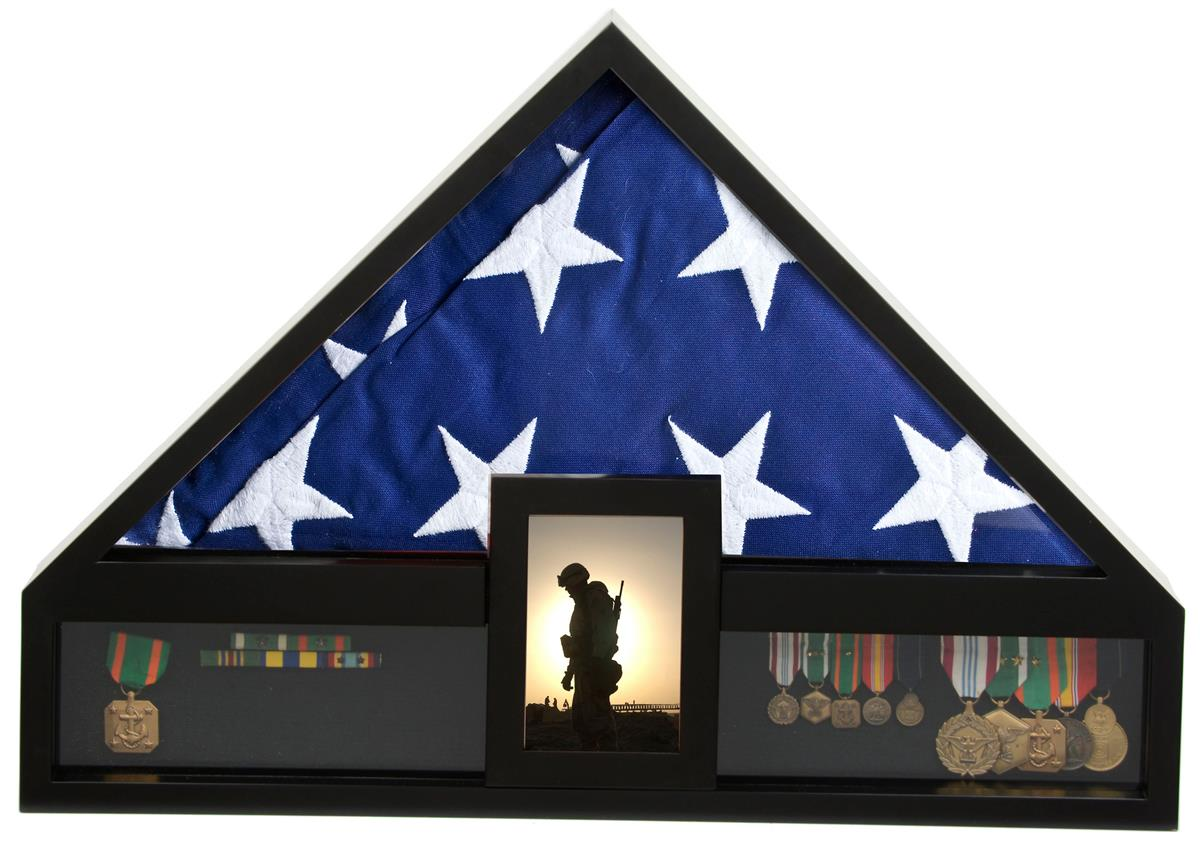 Military memorabilia case folded american flag display for American frame coupon code