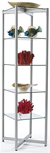 5 Level Glass Tower Shelves