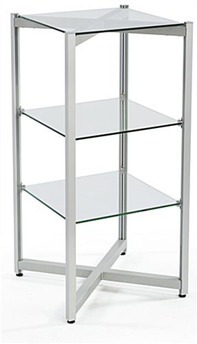 Retail Tiered Glass Shelving Display