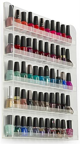 Nail Polish Rack Acrylic Stand Amp Wall Mount Manicure Bottle Storage