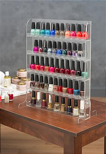 Nail Polish Rack | Acrylic Stand & Wall Mount Manicure Bottle Storage