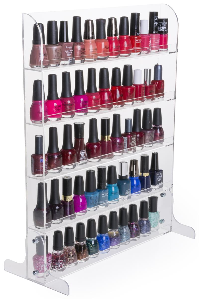 nail polish rack acrylic stand wall mount manicure. Black Bedroom Furniture Sets. Home Design Ideas