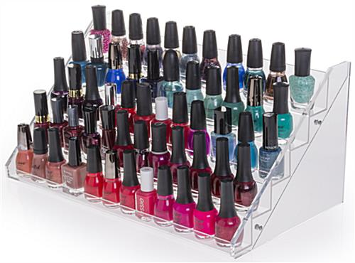 Nail Polish Stand Stair Design Countertop Manicure Bottle Organizer