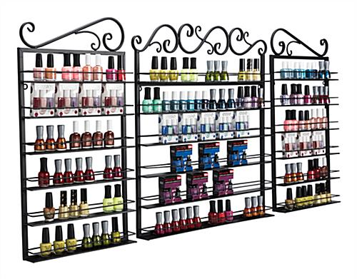 nail polish wall holders with bottles