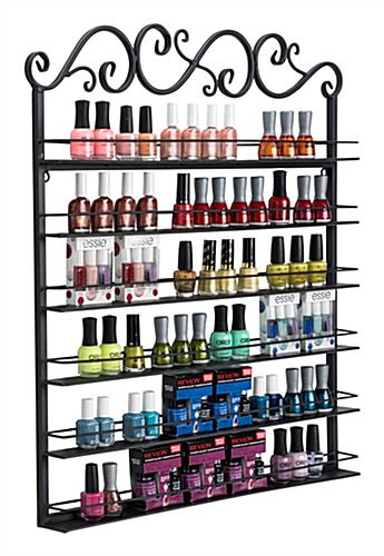 black nail polish rack for bottles