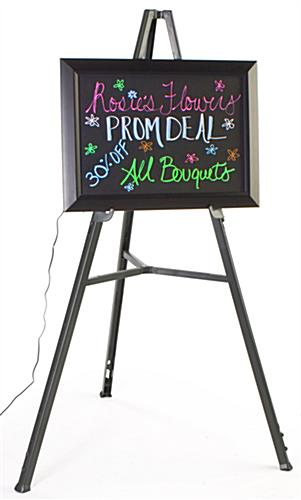 "18"" x 25"" Flashing Neon Board With Easel"
