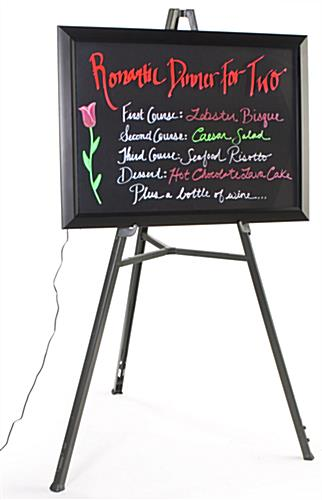 Neon Writing Board with Easel