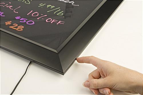 Write-On LED Sign with Easy Color Adjustment
