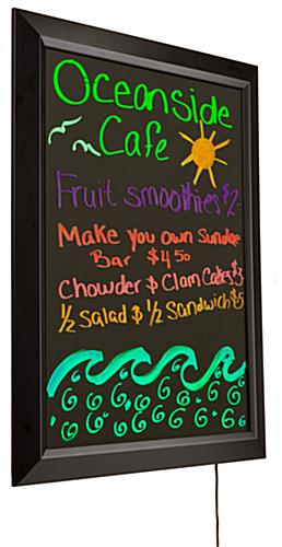 Write On Led Board Wall Mount W Animation Markers