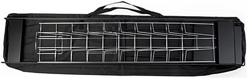 Black Magazine Rack with Carrying Bag