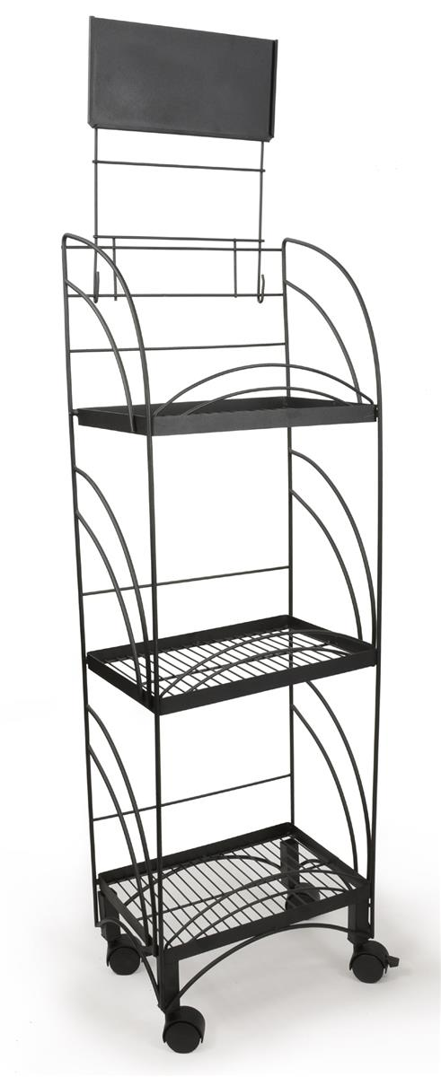 Metal Pop Display Rack 14 Quot W Metal Shelving Wheels