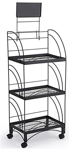Wire Pop Rack Mobile Retail Merchandising Stand