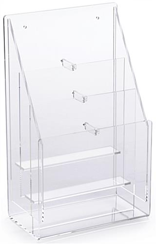 Clear Pamphlet Rack