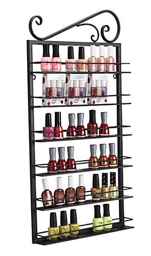 metal nail polish rack for wall placement