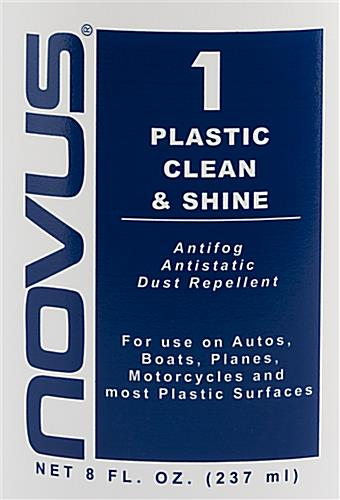 NOVUS complete plastic polish kit with number 1 clean and shine solution