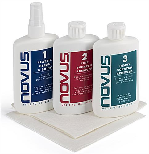 NOVUS complete plastic polish kit with effective cleaning properties to rejuvenate your items