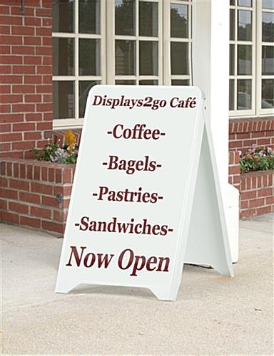 "Custom Graphic Sidewalk Sign, 32"" Viewable Height"