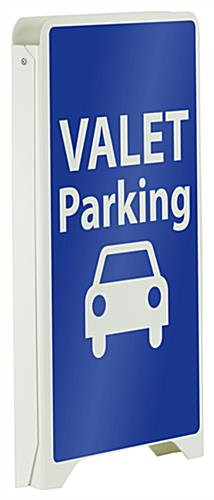 Valet Parking Sidewalk Sign, Double Sided