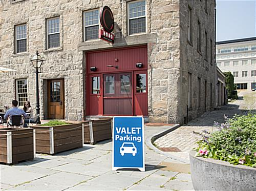Valet Parking Sidewalk Sign with 18 x 32 Printed Area