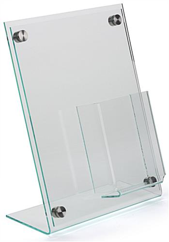 "8.5"" x 11"" Slanted Sign Holder with Brochure Display"