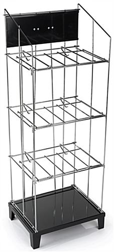 Wire Newspaper Floor Rack - 3 Removeable Shelves