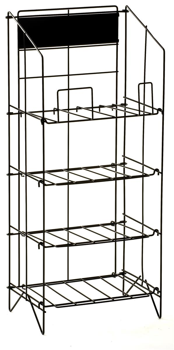 Newspaper Stand Designs : Tier floor standing metal newspaper rack adjustable