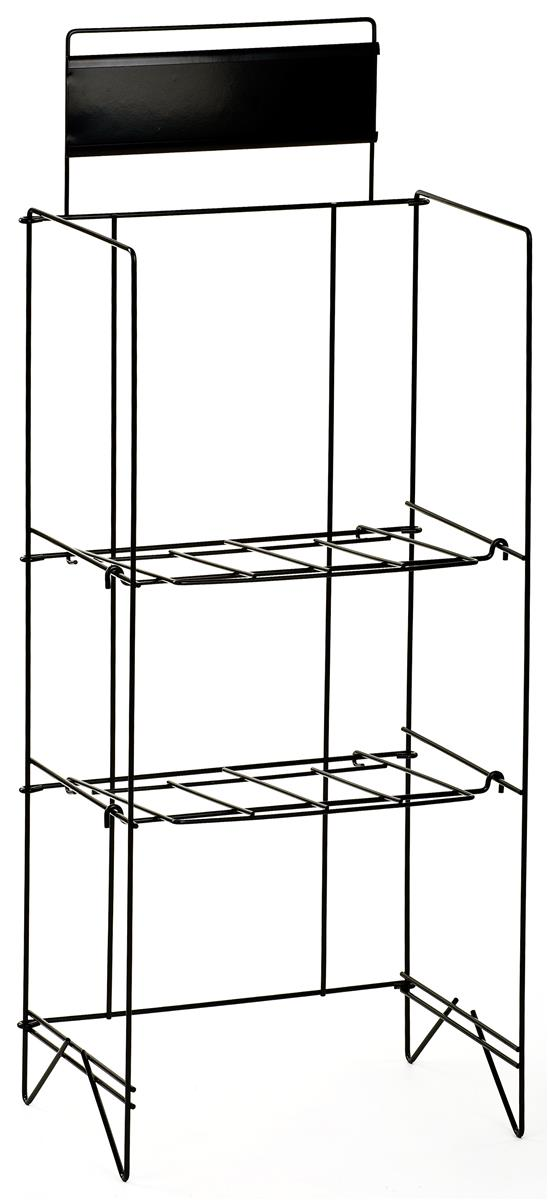 Metal Newspaper Rack Two Levels Of Shelves