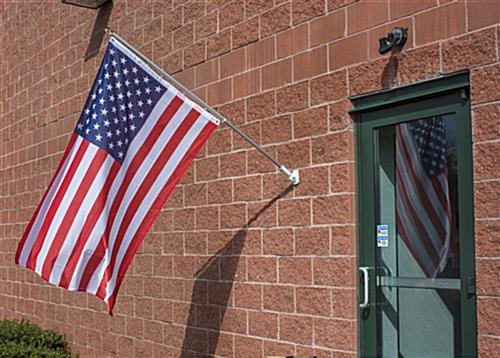 Outdoor American Flag and Pole Set