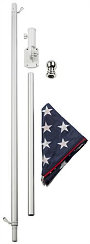 Easily Assembled American Flag and Pole Set