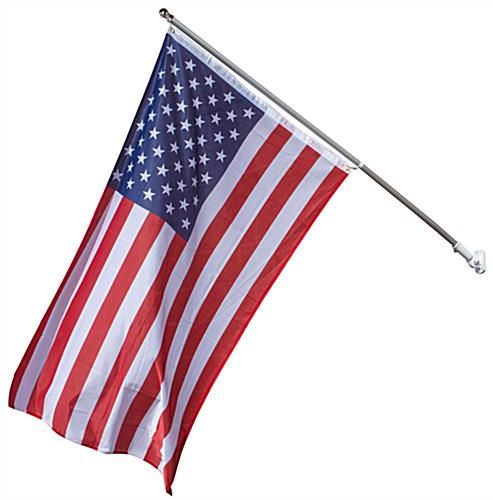 Tilting American Flag and Pole Set