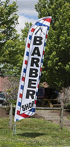 Barber Shop Flag with Blue and Red Stripes