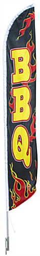 "14' Tall Outdoor ""BBQ"" Banner Flag"