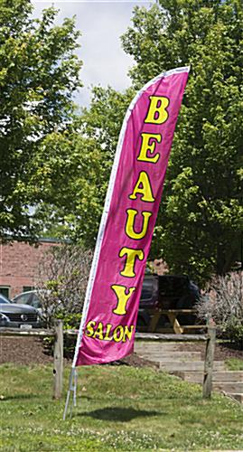 Beauty Salon Flag with Steel Ground Stake