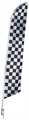 Easy to Assemble Checkered Feather Flag