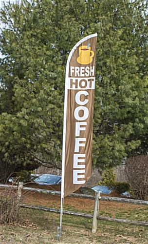"Outdoor ""Coffee"" Banner Flag"